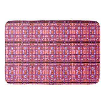 fabricatedframes Curvy Plaid feminine abstract art bath mat