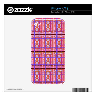 Curvy Plaid Pattern iPhone 4 Zazzle Skin Decals For The iPhone 4S