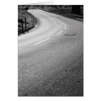 Curvy Road Greeting Card,Note Card
