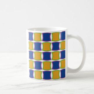 Curvy Squares Classic White Coffee Mug