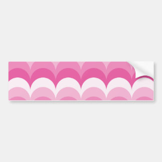 Curvy waves pink bumper sticker