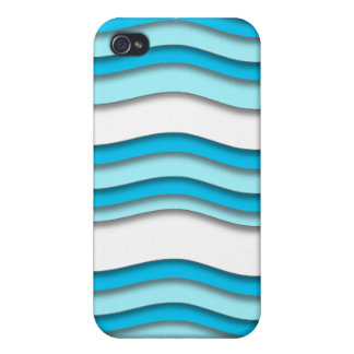 Curvy White Blue iPhone 4 Speck Case