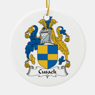 Cusack Family Crest Ceramic Ornament
