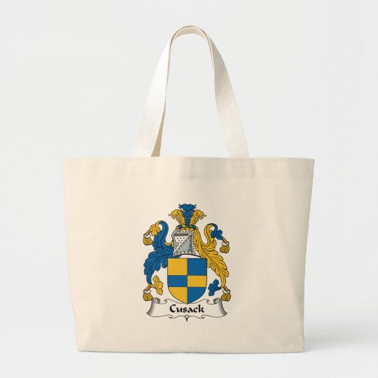 Cusack Family Crest Large Tote Bag