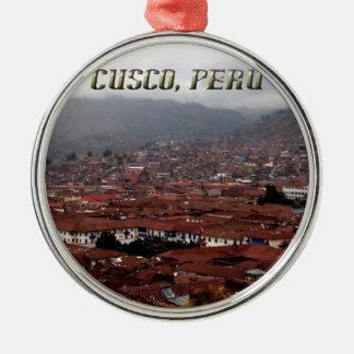Cusco City Skyline Peru Metal Ornament