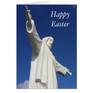 cusco easter statue greeting card