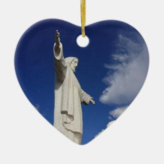 cusco jesus heart ceramic ornament