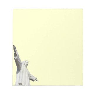 cusco jesus yellow note pad