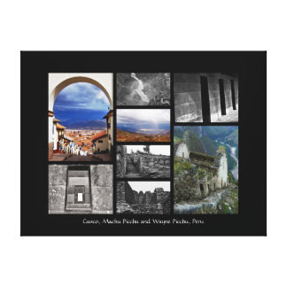 Cusco, Machu Picchu and Wayna Picchu, Peru Canvas Print