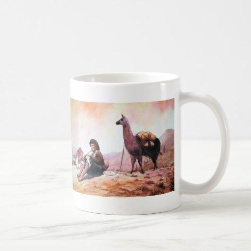 Cusco Peru Llama Picture Mug