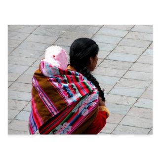 Cusco, Peru, mother and child 2 Postcard