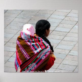 Cusco, Peru, mother and child 2 Print