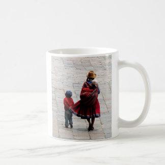 Cusco, Peru, mother and children Coffee Mug