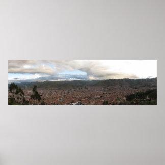 Cusco Peru Panorama Poster
