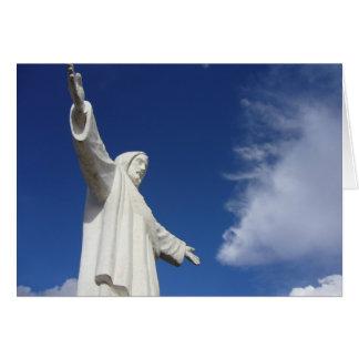 cusco statue greeting card