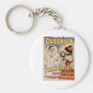 Cusenier Vintage Wine Ad Art Keychain