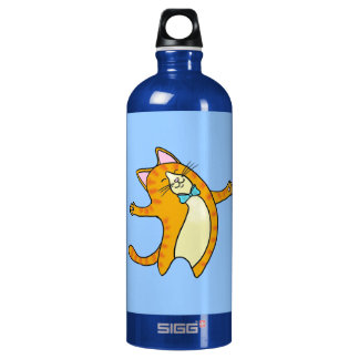 CusHappy Cat Aluminum Water Bottle
