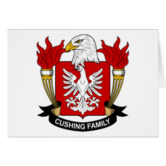 Cushing Family Crest Card