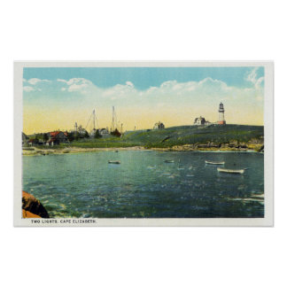 Cushing's Island View of White Head Poster