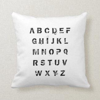 Cushion alphabet throw pillow