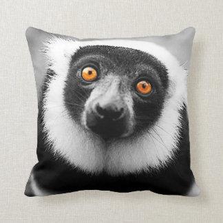 Cushion black/white lemur pillow