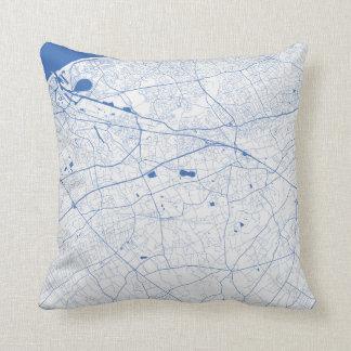 Cushion Bruges urban Pattern BLUE