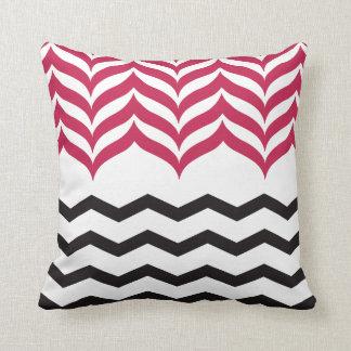 Cushion Chevron Pillow Black Pair Rosa
