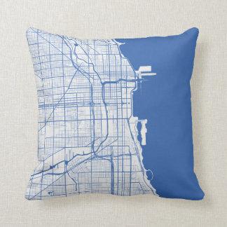 Cushion Chicago urban Pattern BLUE