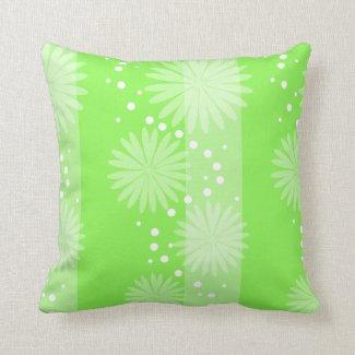 Cojín - Floral en fondo verde Cojin