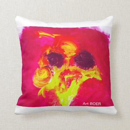 "Cushion, ""Flower"" I. BOER B. Throw Pillow"