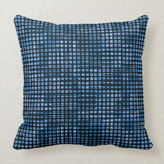 Cushion Krik Krak Blue Throw Pillow
