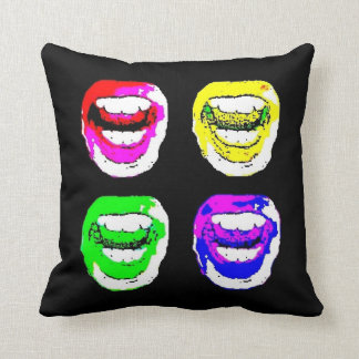 Cushion Lips Colors (square Format) Pillow