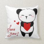 """Cushion """"Love you panda """" Throw Pillows"""
