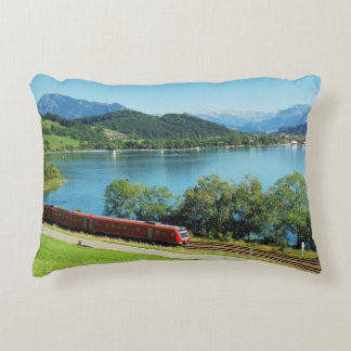 Cushion of large Alpsee with Immenstadt Decorative Pillow