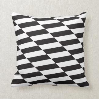 Cushion Pillow Black & White Squares