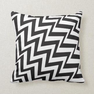 Cushion Pillow Black & White Zig Zag