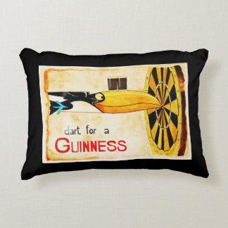 cushion posts Irish beer GUINNESS painted