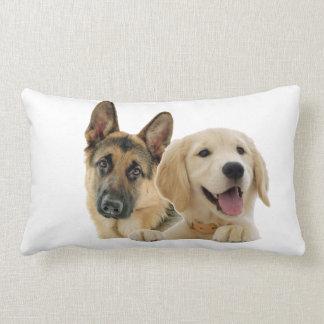 Cushion pug golden and German shepherd