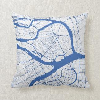 Cushion Saint Petersburg urban Pattern BLUE