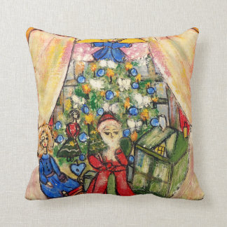 """Cushion """"Santa""""s Visit"""" design edith-joy"""