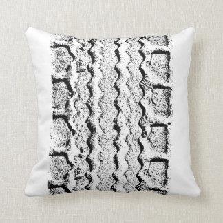 Cushion Tire track Throw Pillow