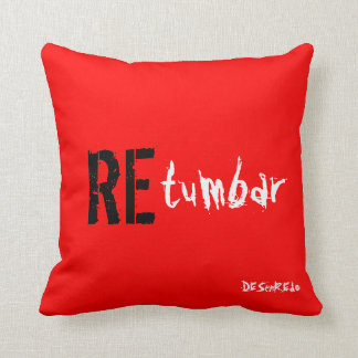 Cushion To resound red Disentanglement Throw Pillow