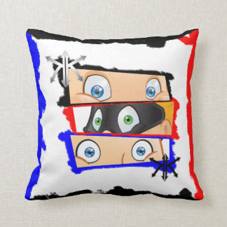 Cushion with amused appearance and modern throw pillow