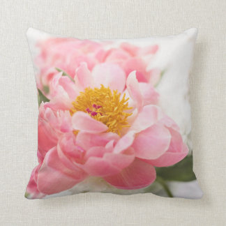 cushion with beautiful pink flowers