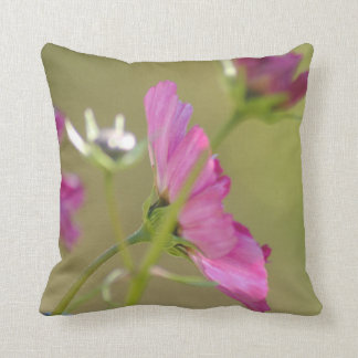 Cushion with floral photo design throw pillow