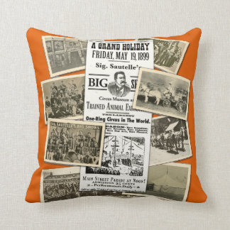 Cushiony Sig Sautelle's Circus Pillow
