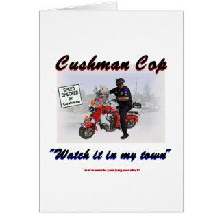 Cushman Cop Watch it in My Town Card
