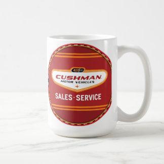 Cushman vehicles vintage sign classic white coffee mug