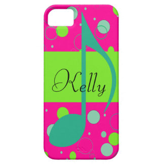 Cusom Name Sixteenth Note on Polka Dots iPhone 5 Cover