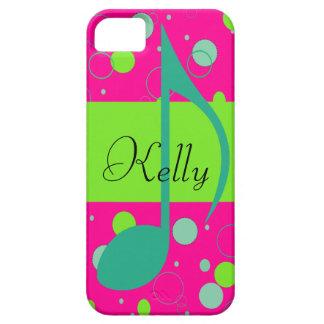 Cusom Name Sixteenth Note on Polka Dots iPhone 5 Covers